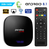 Suporte Pendoo UM95X controle remoto Telefone Inteligente 1GB, 8GB, 2GB, 16GB Amlogic S905W Caixa Internet TV 4K Android Market 8.1