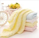 Toalha de rosto Muslin Saliva Muslin Muslin toalha bordada lenço