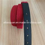 Courroie tressée d'étroit de tissu de polyester de dames de couleur rouge