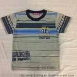 スクエア6331子供の衣服の幼児の男の子のストリップのTシャツの衣服