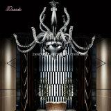 Het moderne Licht van de Kroonluchter van het Kristal met de Lamp van het Plafond van het Roestvrij staal