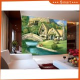 Dream House Witn Wooden Unframe DIY Oil Painting