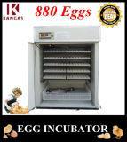 CE automatique d'incubateur d'oeufs de taux élevé de hachure de 880 oeufs petit marqué (KP-9)