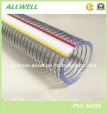 Resorte espiral de alambre de acero de PVC Industrial manguera del tubo de plástico