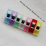 Alta calidad de 27mm colcha de retazos de plástico de tela colorida pregunto clips