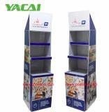 Anker-Pappfußboden-Bildschirmanzeige-Regale für Nahrung, Supermarkt-Ausstellungsstand