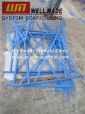 Het Pleisteren van de Schraag van bouwers de Schragen van het Werk van de Steiger