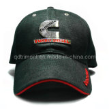 Bordado de emblema de metal sándwich de sarga de golf de gorra de béisbol (TRB023)