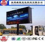 Visualización de LED a todo color al aire libre P10 de la alta calidad para hacer publicidad