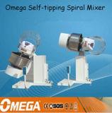 misturadores espirais de inclinação automáticos elevados de 130kg Quanlity