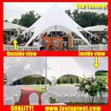 Дешевые цены белую звезду тени Палатка для наружного диаметра свадьбы 14m 100 человек местный гость
