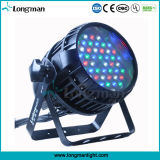 Resistente al agua DMX Auto Zoom de 54X3W de luz LED PAR
