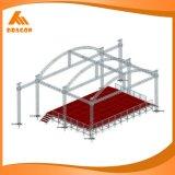 Выставка рекламируя ферменную конструкцию изогнутую алюминием крыши ферменной конструкции 400*400mm