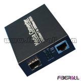 convertitore di media di 1000m per il ricetrasmettitore ottico LC 10km di 1.25g SFP