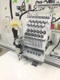 Única máquina Sewing horizontalmente misturada industrial principal do bordado do tampão