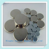 N35h Magneet van de Schijf van het Neodymium van het Plateren van het Nikkel de Permanente