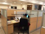 여십시오 사무실 높은 유리제 워크 스테이션 분할 (FOH-WS42-3)를