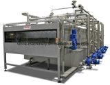 Pasteurizador de pulverização do túnel refrigerando de água para o suco engarrafado enchido quente