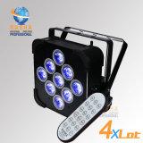 Rasha Panta 9*15W 5in1 Rgabw batteriebetriebenes WiFi LED flaches NENNWERT Licht LED dünnes NENNWERT Effekt-Wäsche-Licht