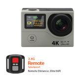 H3 Câmera de ação de tela dupla Câmera de viagem desportiva 4k Câmera impermeável DV DVR 170d