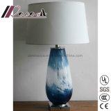 Lampe ovale moderne neuve de Tableau d'ombre de tissu de corps en verre