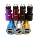 cargador dual del coche del martillo de la seguridad de los accesos del USB 2 de la aleación 12V/3.1A para el teléfono móvil de la PC de la tablilla del iPad de Samsung del iPhone