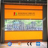 문 (Hz HS0512)가 고속 산업 직물에 의하여 위로 구른다