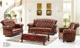 Sofà del cuoio di stile dell'Europa per la mobilia del salone (S001)