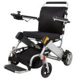 Cadeira de rodas de alumínio da potência do curso da bateria de lítio para Disabled e pessoas idosas