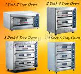 Brood die de Enige Elektrische Oven van het Dienblad van het Dek Dubbele voor Verkoop bakken