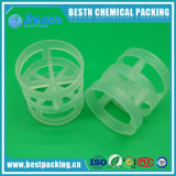 Plastic Pall Ring em PP, PE, PVC, PVDF Material como Tower Packing