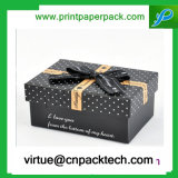 Донут подгонянный роскошью коробки подарка картона пакета заедк с смычком