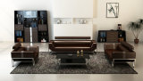 Sofá de couro moderno na mobília do sofá/mobília da sala de visitas