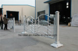 Haohan 고품질 장식적인 직류 전기를 통한 강철 Alluminum 합금 발코니 난간 18