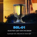 Lampada moderna autoalimentata solare decorativa IP65 del giardino dell'indicatore luminoso della colonna
