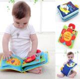 Livres mous éducatifs de bébé de tissu avec le pli