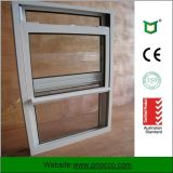 Solo una sola ventana de aluminio vidriadas Hung, ventana de aluminio
