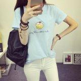 형식 대원 목 간결 소매 t-셔츠