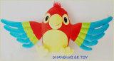 교육 장난감 다채로운 견면 벨벳 앵무새 괴뢰