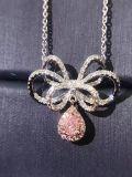 Серебристый ожерелье с бабочки и груши пульта управления