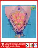柔らかいプラシ天小型犬の花の花束のギフトのおもちゃ