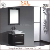Тщета ванной комнаты дуба мебели ванной комнаты N&L с стеклянным тазиком мытья