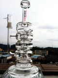 Atacado 13inch 5mmthickness Recylce Glass Smoking Water Pipe