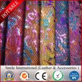 Cuir artificiel de double impression de PVC pour les sacs/le cuir de synthétique couvre-tapis de Talbe