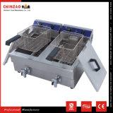 Fritadeira de profundidade elétrica de aço inoxidável de tanque 17L com dreno