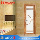 Porte en aluminium de salle de bains en verre givré de matériau de construction de qualité
