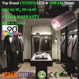 la MAZORCA del ciudadano de 15W 90+Ra LED Tracklight con Osram No-Oscila adaptador global del programa piloto