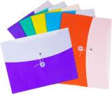 Bolso encantador del fichero del color del doble de la fuente de oficina del papel del nuevo producto