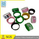Wristband a schiocco a buon mercato magnetico del braccialetto di schiaffo del silicone