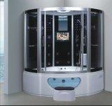 1500mmのジャクージおよびシャワー(AT-G0213TVDVD)との角の蒸気のサウナ